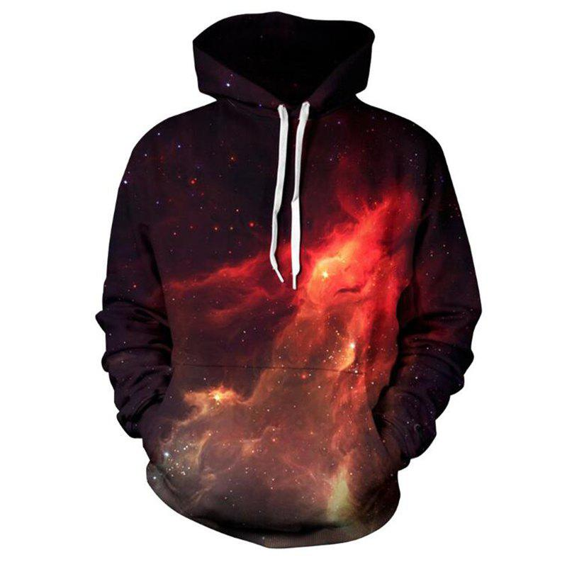 Outfits Men's Forest Starry Sky 3D Print Hoodie