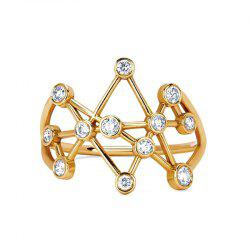Fashion 12-PIECE Zirconia Geometric Rings -