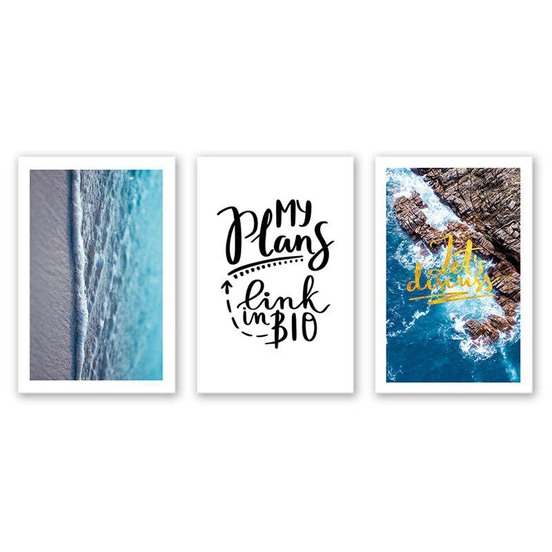 Trendy 3PCS W513 Poster Landscape Pattern Spray Painting