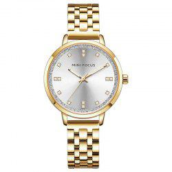 MINI FOCUS Ladies Top Fashion Stainless Steel Quartz Famous Brand Women Watches -
