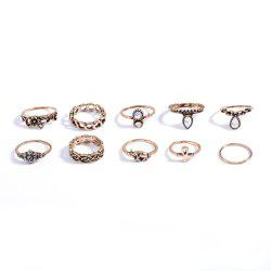 Fashion 10PC/SET Women Punk Vintage Knuckle Joint Rings -