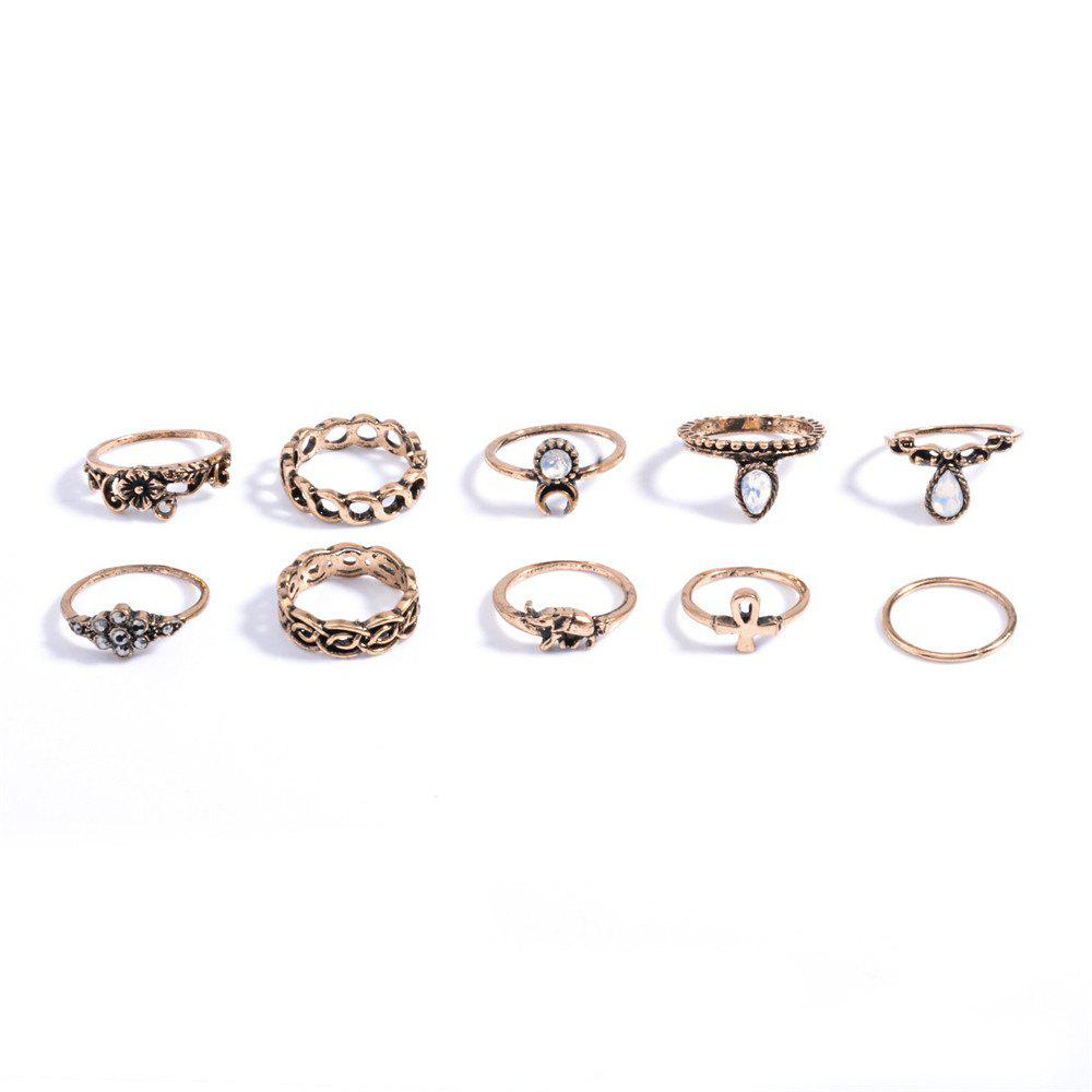 Trendy Fashion 10PC/SET Women Punk Vintage Knuckle Joint Rings