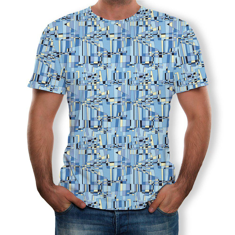 Sale Fashion Style Men's Printed Short Sleeves