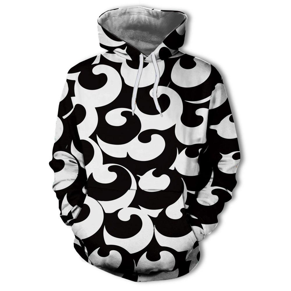 Outfits Fashion Trend New 3D Printing Long-sleeved Hoodie Sweater