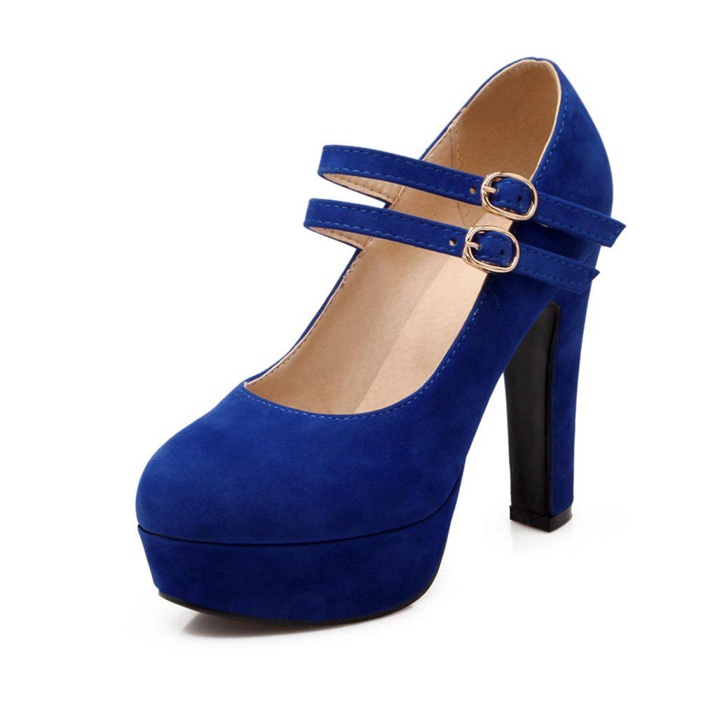 Affordable Suede Super High Heels Round Head Wedding Banquet Shoes