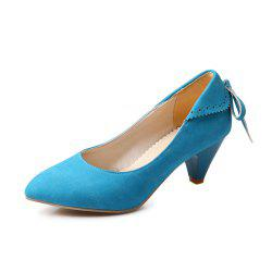 Bow Shaped Suede Tipped Glass with Simple Women'S Shoes -