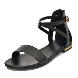 Pregnant Women with Buckle Comfortable Zipper Toe Casual Beach Sandals -