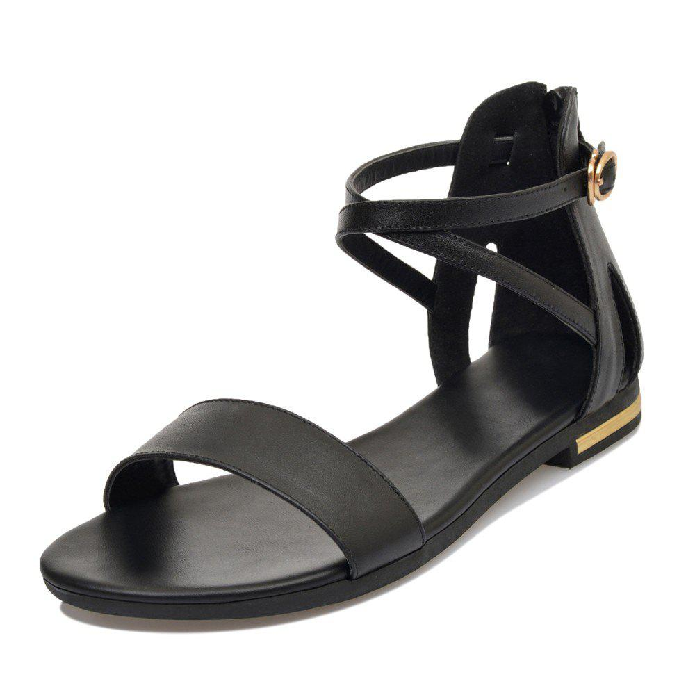 Hot Pregnant Women with Buckle Comfortable Zipper Toe Casual Beach Sandals