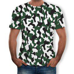 Fashion Men's Short-Sleeved Round Neck Print T-Shirt -