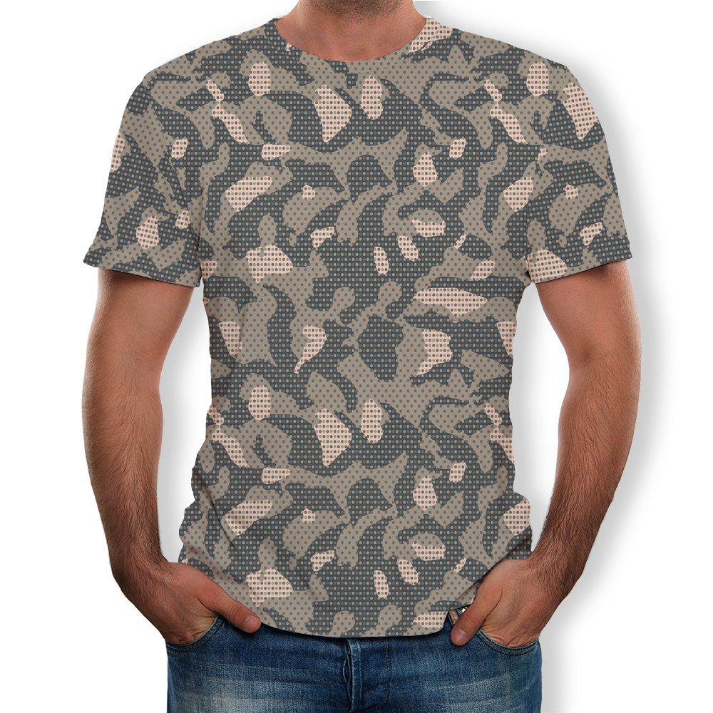 Store Fashion Men's Short-Sleeved Round Neck Print T-Shirt