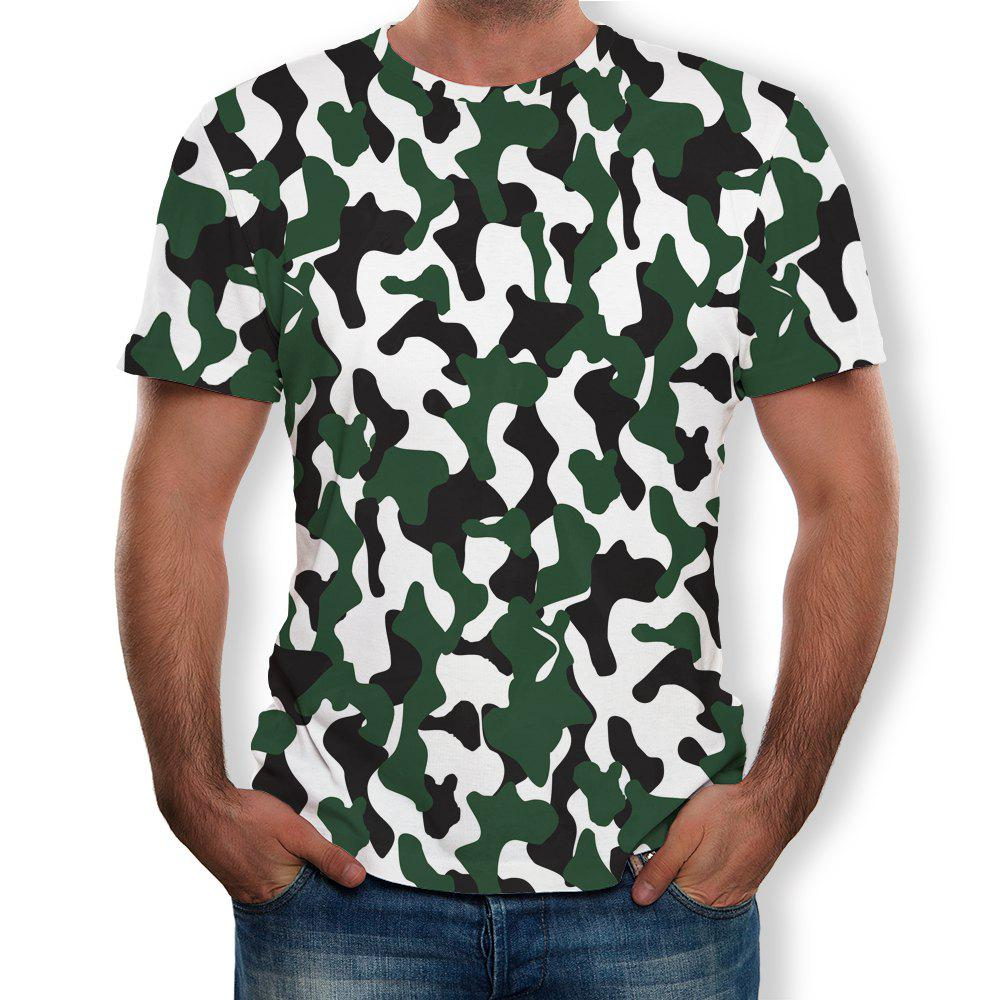 Affordable Fashion Men's Short-Sleeved Round Neck Print T-Shirt