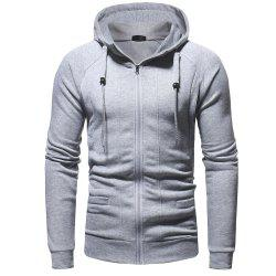 Men's Fashion Casual Slim Hooded Solid Color Sweater -