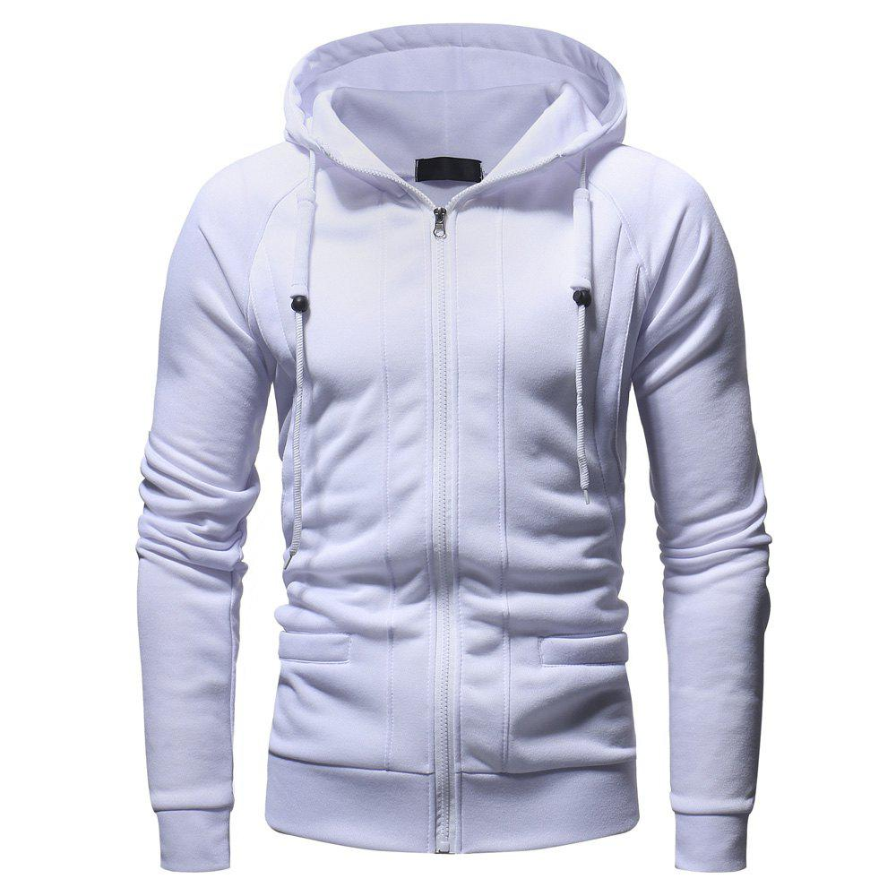 Outfits Men's Fashion Casual Slim Hooded Solid Color Sweater