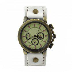 PU Leather Quartz Wrist Watch for Women and Men -