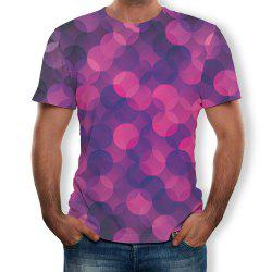 Fashion Simple New Men's Large Size 3D Digital Printing Short-sleeved T-shirt -