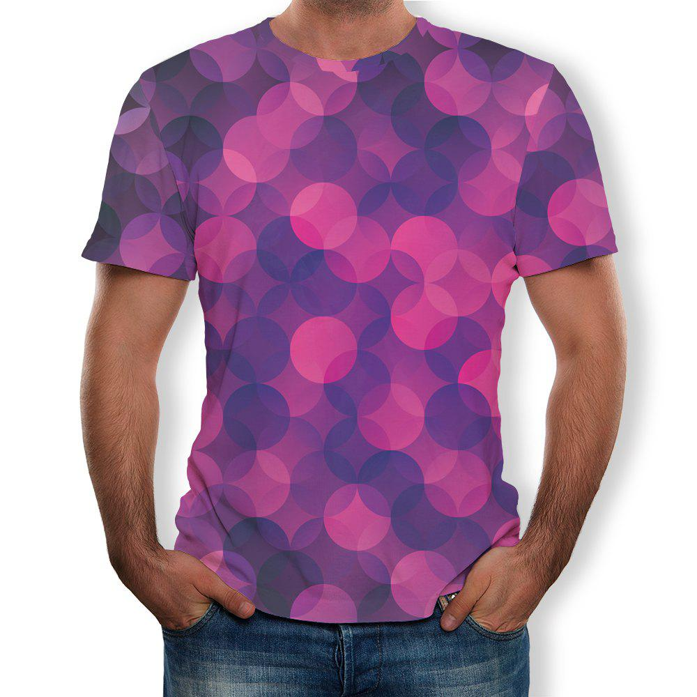Hot Fashion Simple New Men's Large Size 3D Digital Printing Short-sleeved T-shirt