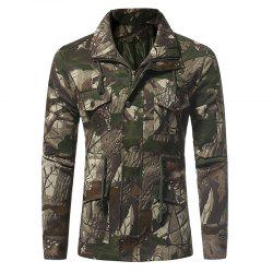 Men's Casual Multi Pocket Camouflage Jacket -