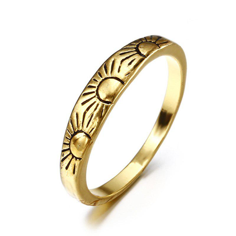 Latest New Lady 14K Golden Fashion Carved Flower Engagement Ring