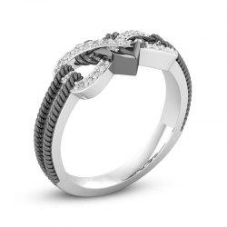 Fashion Simple Heart Type Female Ring -
