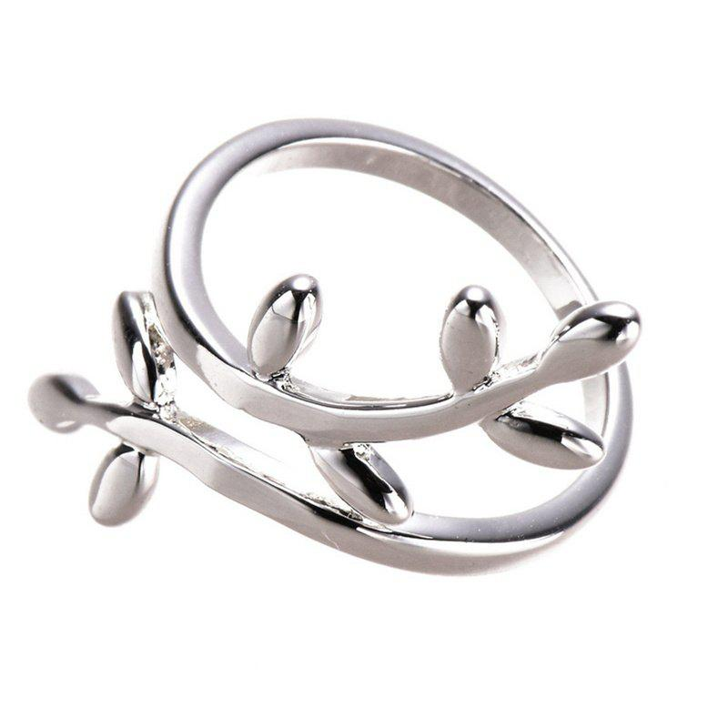 Best New Fashion Leaf Shape Silver Plated Ring