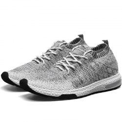 Sports Lightweight Lace Up Men Breathable Mesh Outdoor Slip On Boat Leisure Shoe -