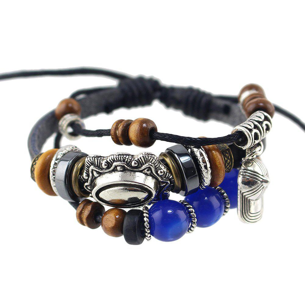 Hot Fashion Multi-storey PU Leather Bead Bracelet