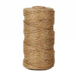 328 Feet Natural Jute Twine Best Arts Crafts Gift Durable DIY Hemp Rope -