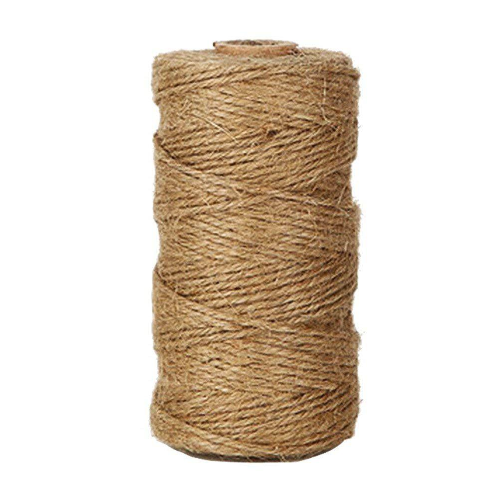 Discount 328 Feet Natural Jute Twine Best Arts Crafts Gift Durable DIY Hemp Rope