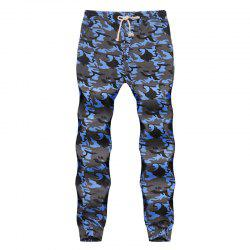 Men's Fashion Contrast Camouflage Sports Trousers Youth Wild Feet Casual Pants -