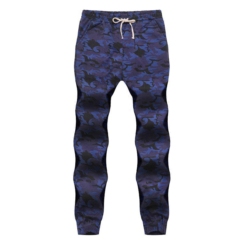 Shop Men's Fashion Contrast Camouflage Sports Trousers Youth Wild Feet Casual Pants