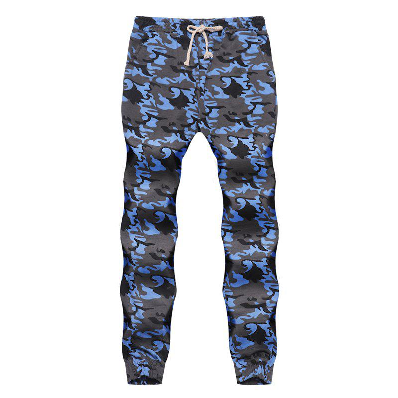 Outfits Men's Fashion Contrast Camouflage Sports Trousers Youth Wild Feet Casual Pants