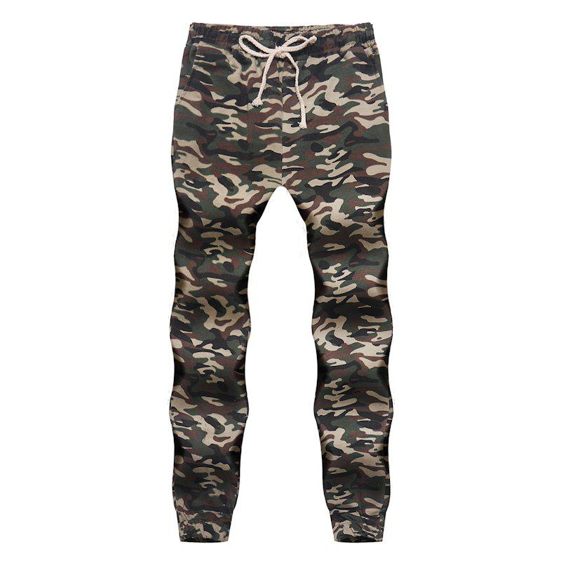 Best Men's Fashion Contrast Camouflage Sports Trousers Youth Wild Feet Casual Pants