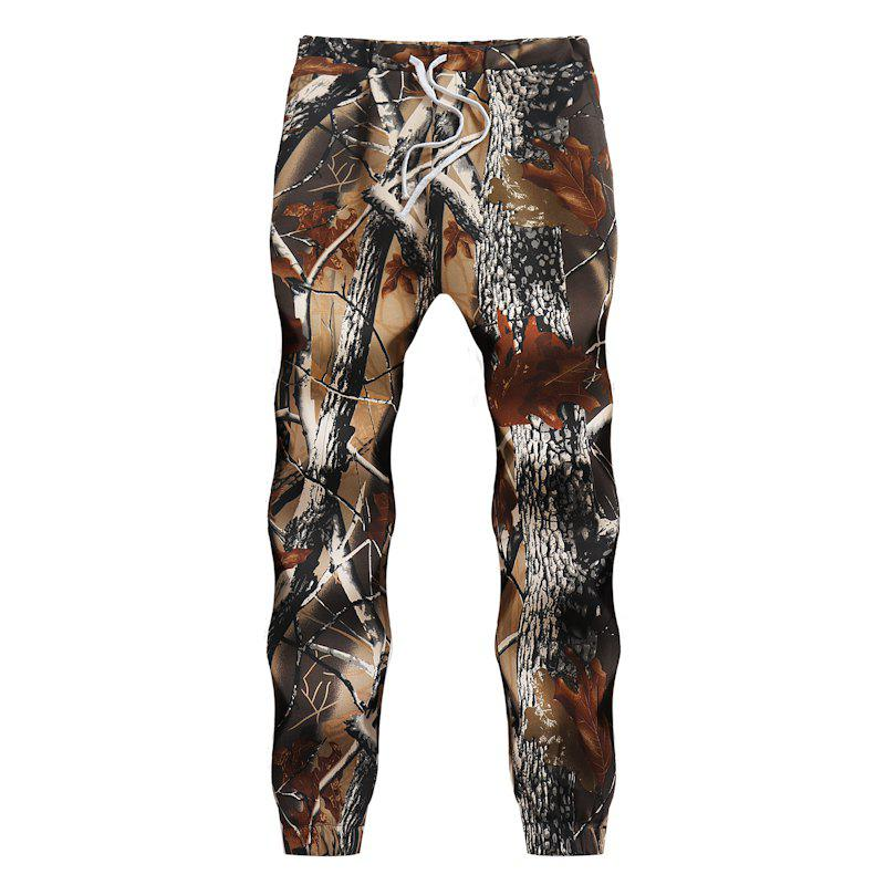 Latest Men's 3D Big Tree Print Sports Loose Casual Pants
