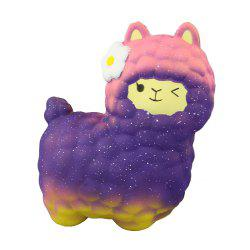 Jumbo Squishy Purple Alpaca Toys -