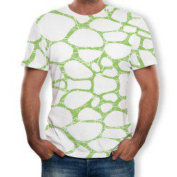 New Fashion Round Neck Short Sleeve 3D Printing -
