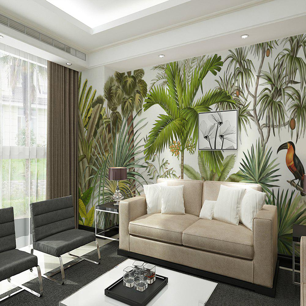 2018 Tropical Rainforest Birds And Trees Wallpaper Wall Stickers