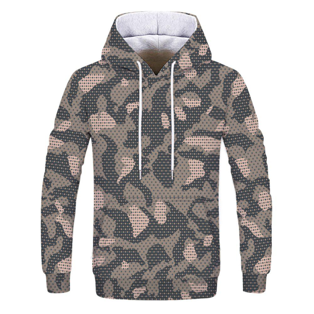 Shop Fashion Trend Men's Printed Camouflage Hoodie