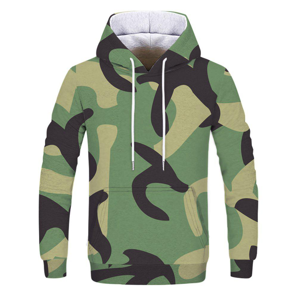 New Fashion Trend Men's Printed Camouflage Hoodie
