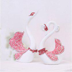 Cartoon Couple Swan Decoration with 2 Pieces -