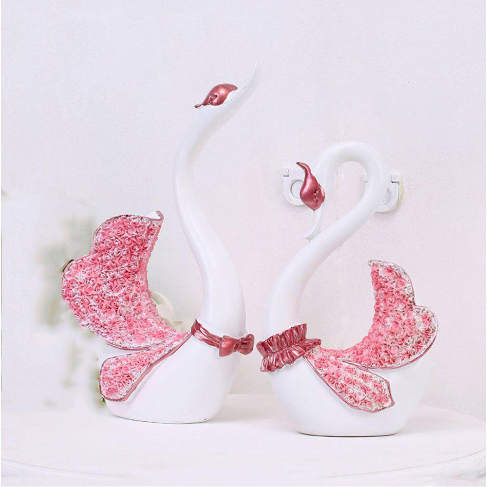 Chic Cartoon Couple Swan Decoration with 2 Pieces