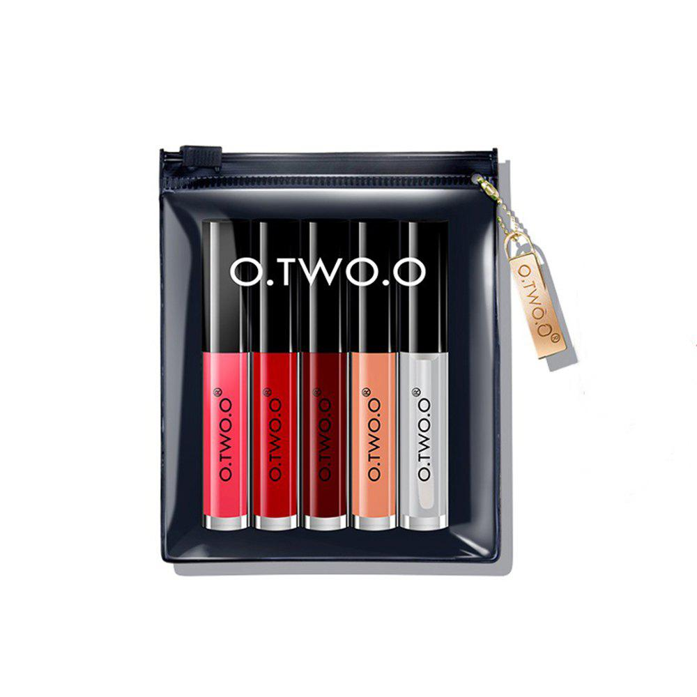 Affordable O.TWO.O Makeup Matte Lip gloss+Lip Oil Set Long Lasting f Soft Texture Lip Stick