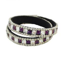 Fashion Colorful Full Rhinestone Crystal Wrap Bracelet -