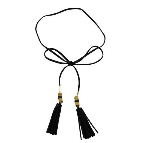 2019 Fashion Pu Leather Long Chain With Tassel Necklace