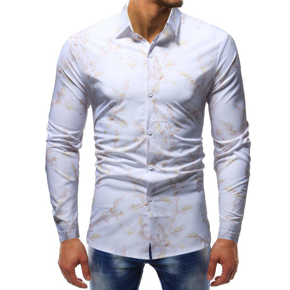 Store Men's  Casual Fashion Wild Long-Sleeved T-Shirt