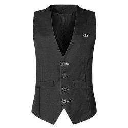 Men's  Fashion Casual Solid Color Suit Vest -