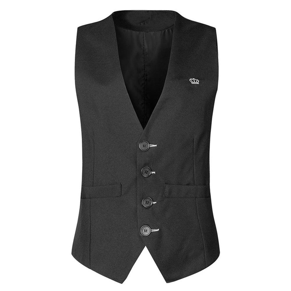 Fancy Men's  Fashion Casual Solid Color Suit Vest