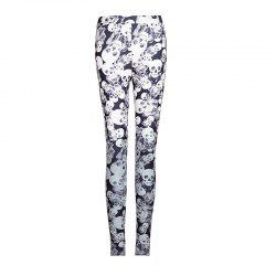 Camouflage Classic High Elastic Knitted Skull Printed Leggings -