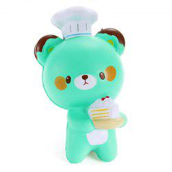 Jumbo Squishy Chef Bear Slow Rising Collection Decoration Toy -