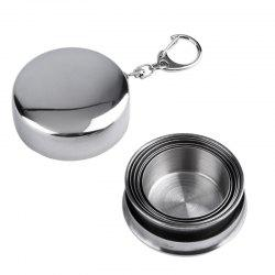 Stainless Steel Portable Outdoor Telescopic Collapsible Folding Cup -