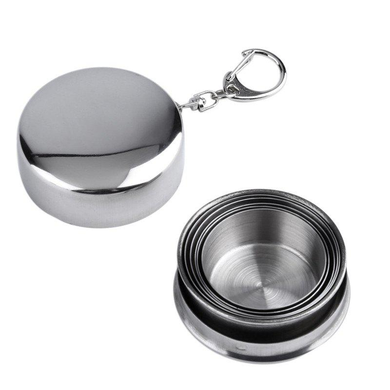 Discount Stainless Steel Portable Outdoor Telescopic Collapsible Folding Cup